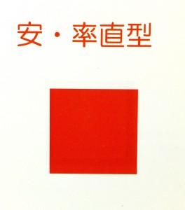 本田宗一郎さんの第3氣質は四角赤。情熱的行動行動派。