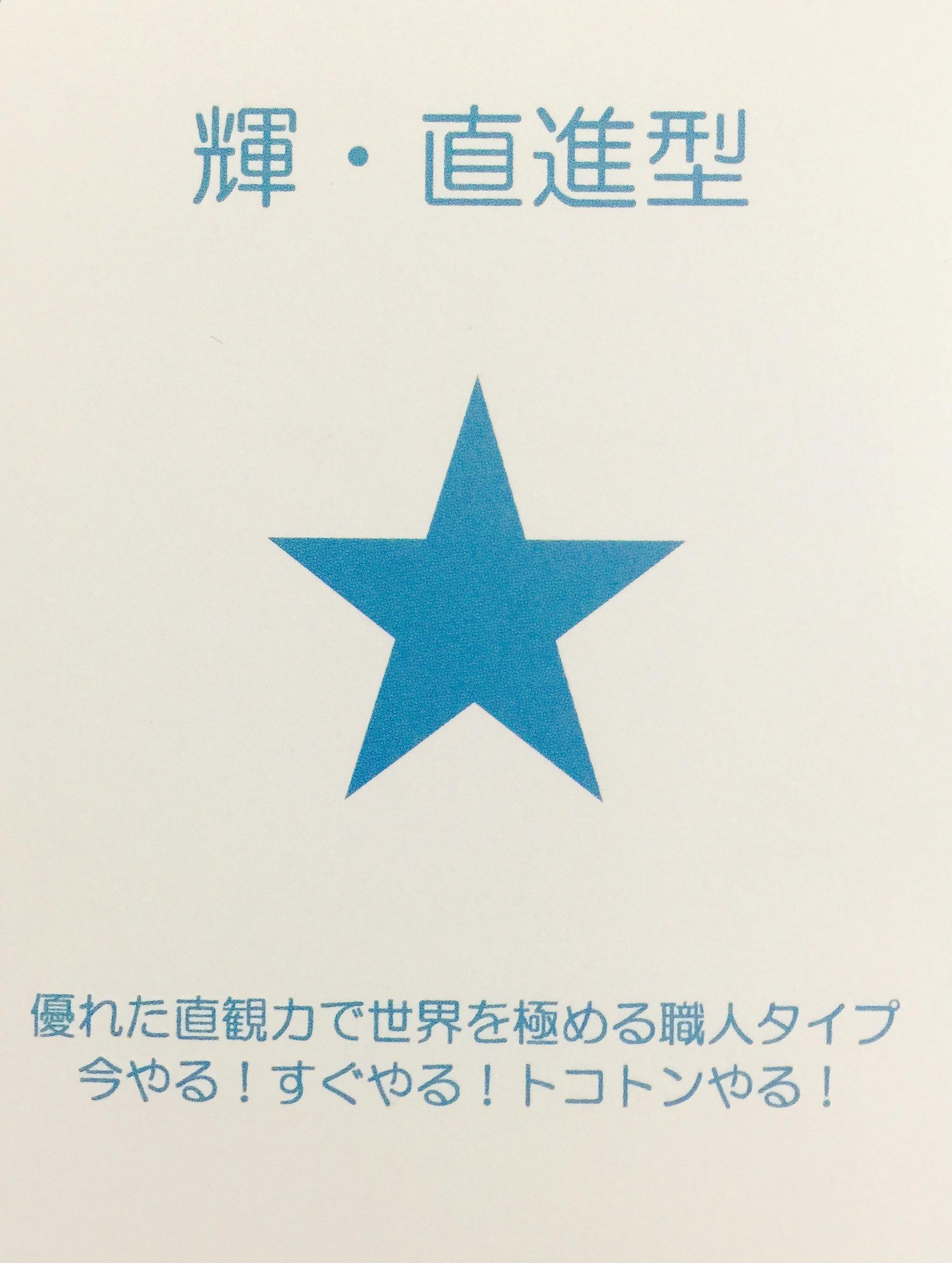 本田宗一郎さんの第2氣質、星水色は職人の星。